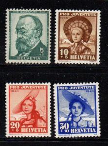 Switzerland Sc B106-9 1940 Pro Juvente stamp set mint