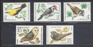 Russia MNH 4476-80 Birds