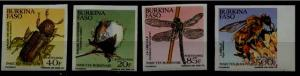 Burkina Faso 947-50 MNH imperf. Insects