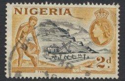 Nigeria  SG 72 SC# 83 Used  QEII 1953   Tin Mining please see scan