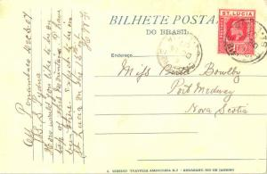 Saint Lucia 1d KEVII 1907 Castries, St. Lucia PPC to Port Medway, N.S. Canada.