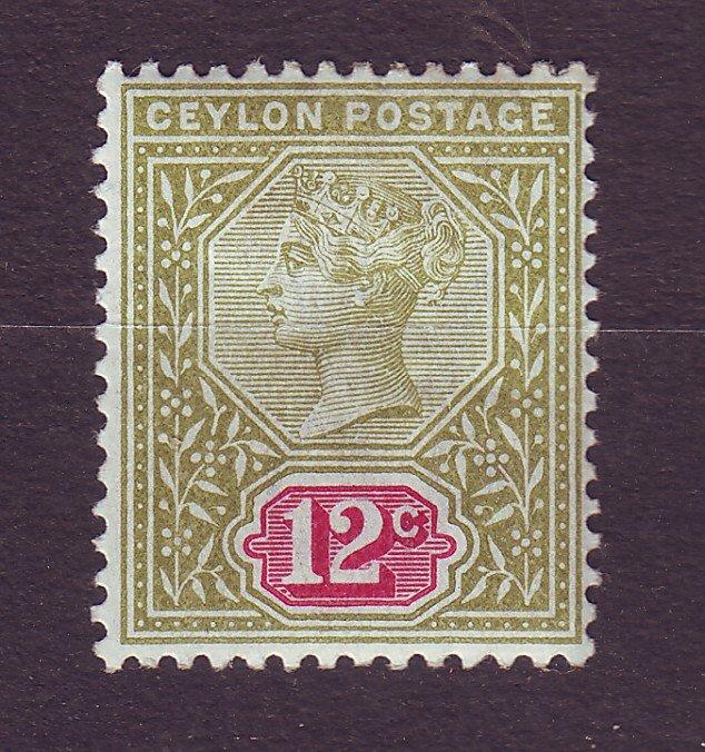 J23631 JLstamps 1886-1900 ceylon mh #135 queen wmk 2