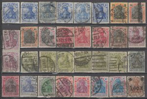 COLLECTION LOT OF #1188 GERMANY 32 GERMANIA STAMPS 1902+ CLEARANCE CV + $50