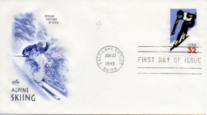 US FDC #3180 Skiing, ArtCraft (0754)