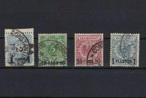 GERMAN COLONIES TURKISH EMPIRE USED STAMPS   REF 4837
