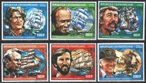 Central African Republic. 1981. 767-72. Sailboats, captains. MNH.