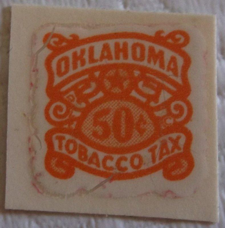 United States State Revenue Oklahoma Tobacco Tax  50 Cents  MNH