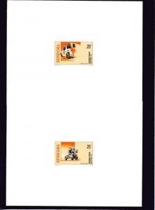 Senegal 1990  Paris-Dakar 12th.Rally 4 Deluxe Souvenir Sheets Sc#874/877