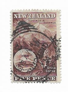 New Zealand #77a ? Back Notation Used - Stamp - CAT VALUE $25.00