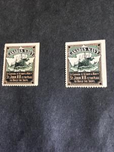 Canada One Patriotic Label Probably 1St World War Era Canadas Navy St. John, N.B