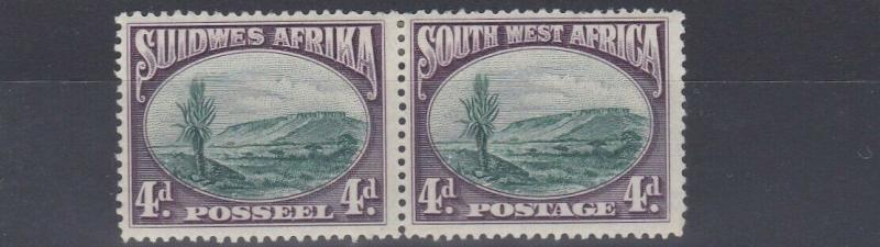 SOUTH WEST AFRICA  1931  S G 78  4D  GREEN & PURPLE  MH