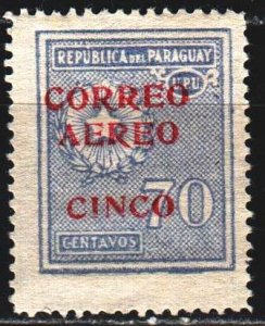 Paraguay. 1930. 328 from the series. Coat of arms of Paraguay. MLH.