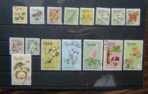 Uganda 1969 Flowers values to 20s Used