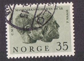 Norway 1964 used law of mass action  Waage 35 ore  #
