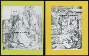 Nevis 690-1 MNH Art, Christmas, Albrecht Durer