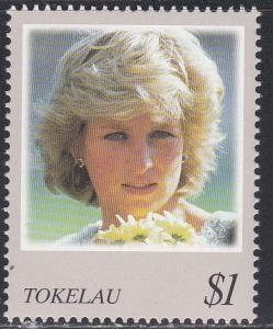 Tokelau # 252B, Diana, Princess of Wales, NH 1/2 Cat..