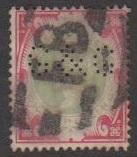 Great Britain Sc#126 Used Perfin G&G