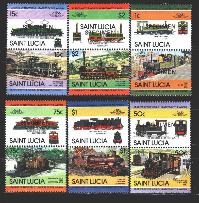 St Lucia. 1984. 672-83. The trains. MNH.