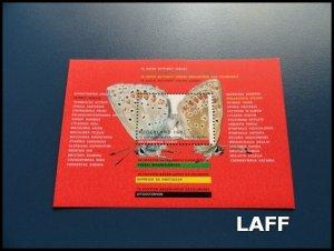 Netherlands - Butterflies - Mini Sheet MNH