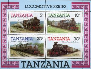 Tanzania MNH S/S 274a Tanzania Locomotives 1985