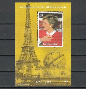Niger, 1998 issue. Lady Diana s/sheet. *