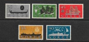 SHIPS - NORWAY #382-6  MNH