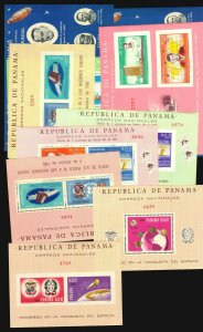 Panama 13 MNH s/s space conquest satellite astrophilately Kennedy Churchill NATO