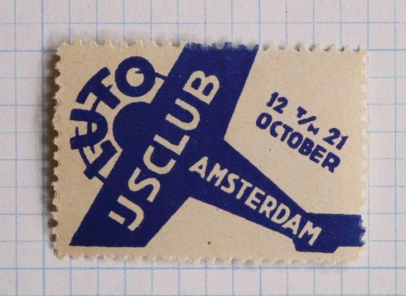 Amsterdam LUTO USCLUB airplane club flying pilots flight air show? poster ad MNH