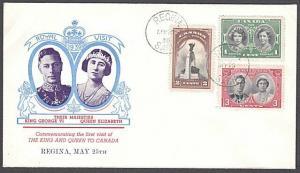 CANADA 1939 Royal visit to Regina - commem cover - Regina cds..............57449