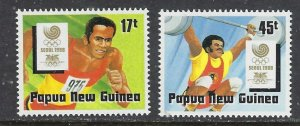 Papua New Guinea 701-02 MNH 1988 Sports (ap7327)