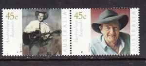 Australia-Sc#1933-4-unused NH -Slim Dusty, musician-2001-