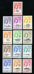 Tristan da Cunha Stamps # 28-41 VF Full set OG LH Scott Value $76.25