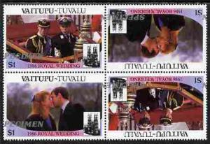 Tuvalu - Vaitupu 1986 Royal Wedding (Andrew & Fergie)...