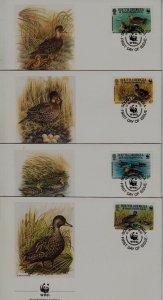 South Georgia 162-65 FDC WWF-92/Birds