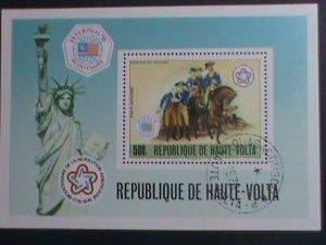 UPPER VOLTA-1976 BICENTENARY OF AMERICAN REVOLUTIONARY-CTO S/S VERY FINE