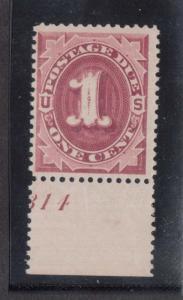 USA #J22 NH Mint Plate Single