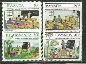 Rwanda MNH 1356-9 School Children 1990