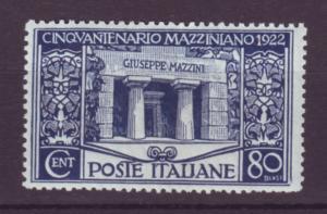 J21559 Jlstamps 1922 italy mh #142 mazzini,s tomb