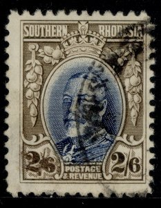 SOUTHERN RHODESIA GV SG26a, 2s 6d blue & drab, FINE USED. Cat £50. PERF 11½