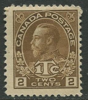 Canada - Scott MR4 - ITC Issue - 1916 - MH  - Single 2c stamp
