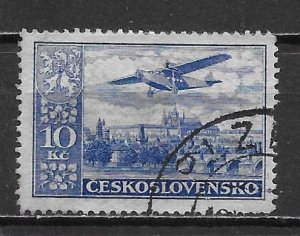 Czechoslovakia C16 10k 1930 Airmails single Used (z1)
