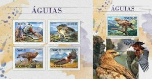 mozambique 2016 birds of prey eagles klb+s/s MNH