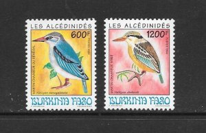 BIRDS - BURKINA FASO #974-5  MNH