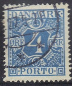 DENMARK SCOTT# J10  USED 4o 1921-30  POSTAGE DUE  SEE SCAN