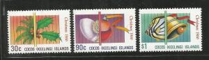 COCOS ISLANDS, 155-157, MNH, CHRISTMAS 1986