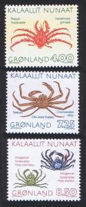 Greenland Crabs 3v 1993 MNH SG#247-249
