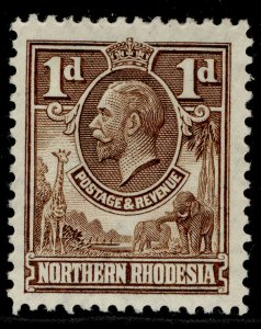 NORTHERN RHODESIA GV SG2, 1d brown, M MINT.