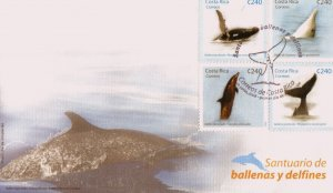 COSTA RICA MARINE LIFE DOLPHINS WHALES Sc 619 FDC 2008