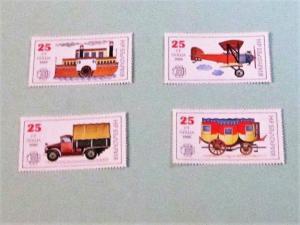 Bulgaria MNH 3387b-e Postal Transports SCV 2.00