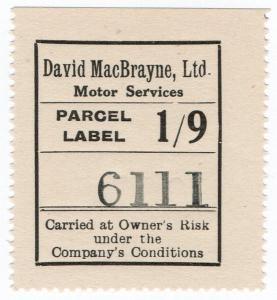 (I.B) Cinderella Collection : David MacBrayne Motor Services - Parcel 1/9d